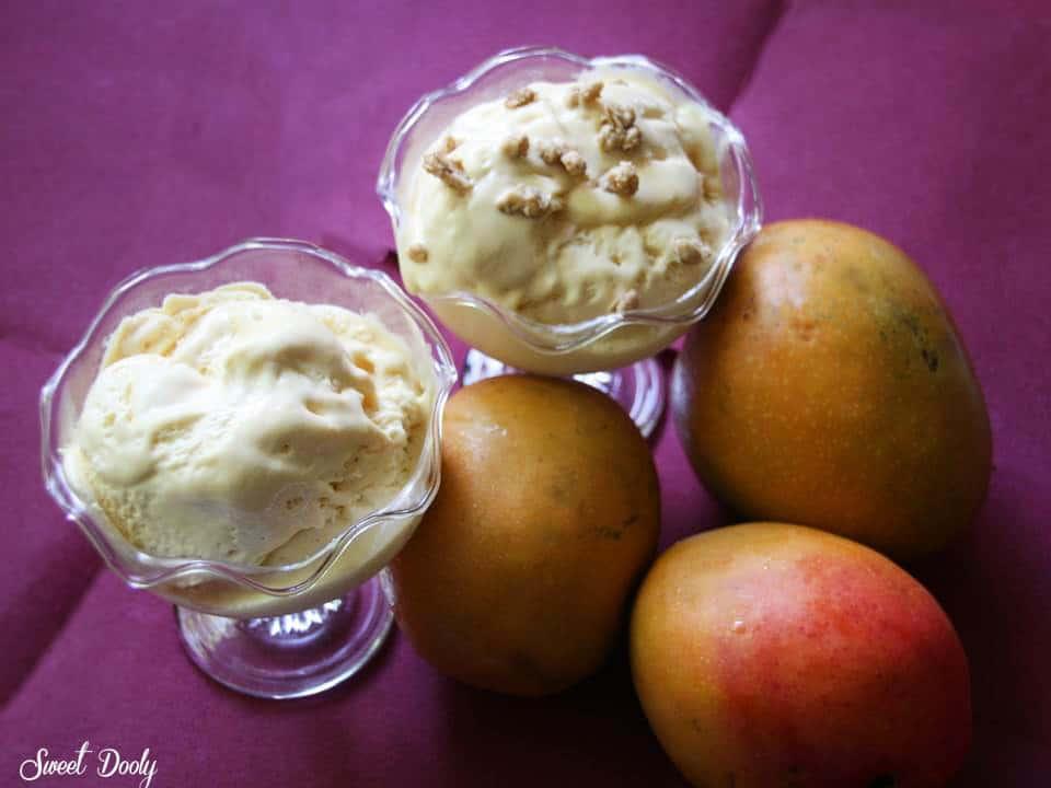 גלידת מנגו קטיפתית