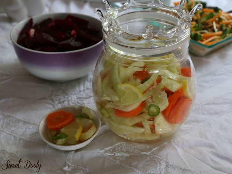 סלט שומר עם ירקות