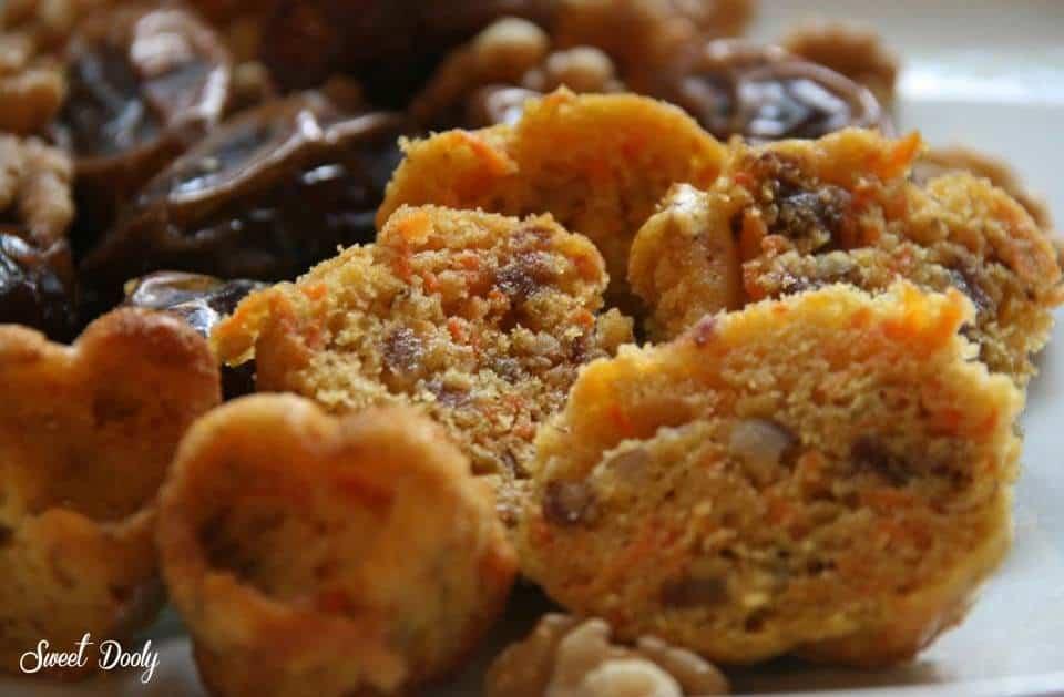 עוגת גזר תמרים ואגוזים