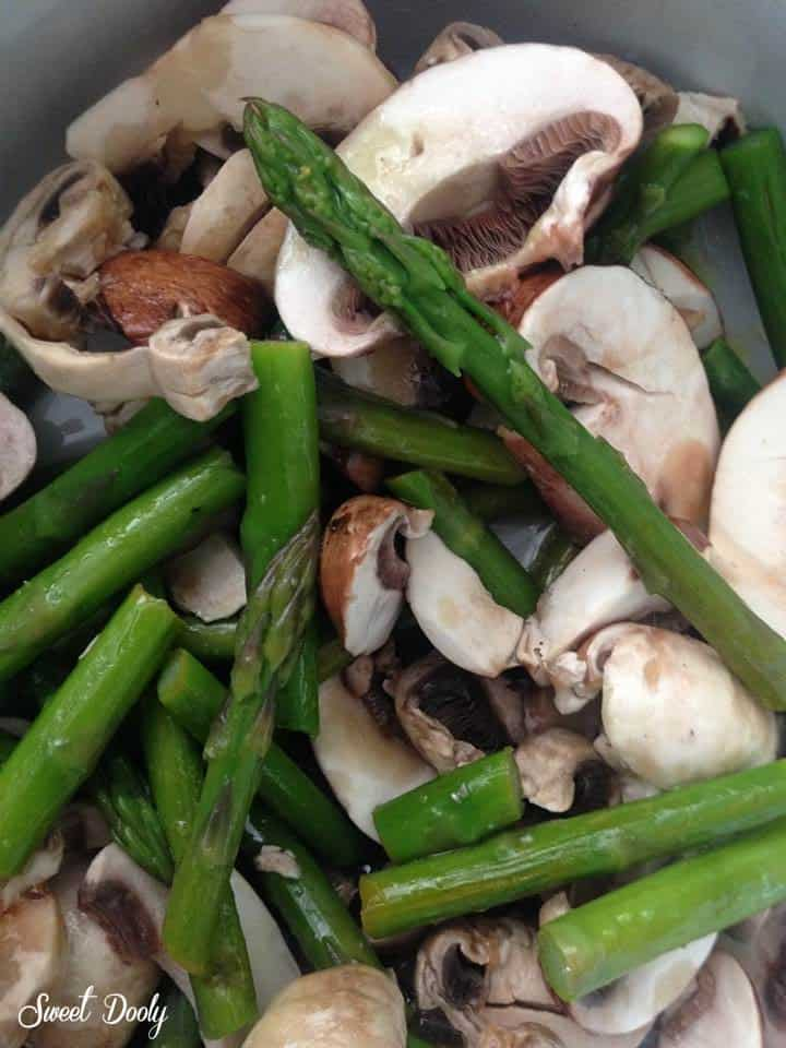 סלט אספרגוס ופטריות