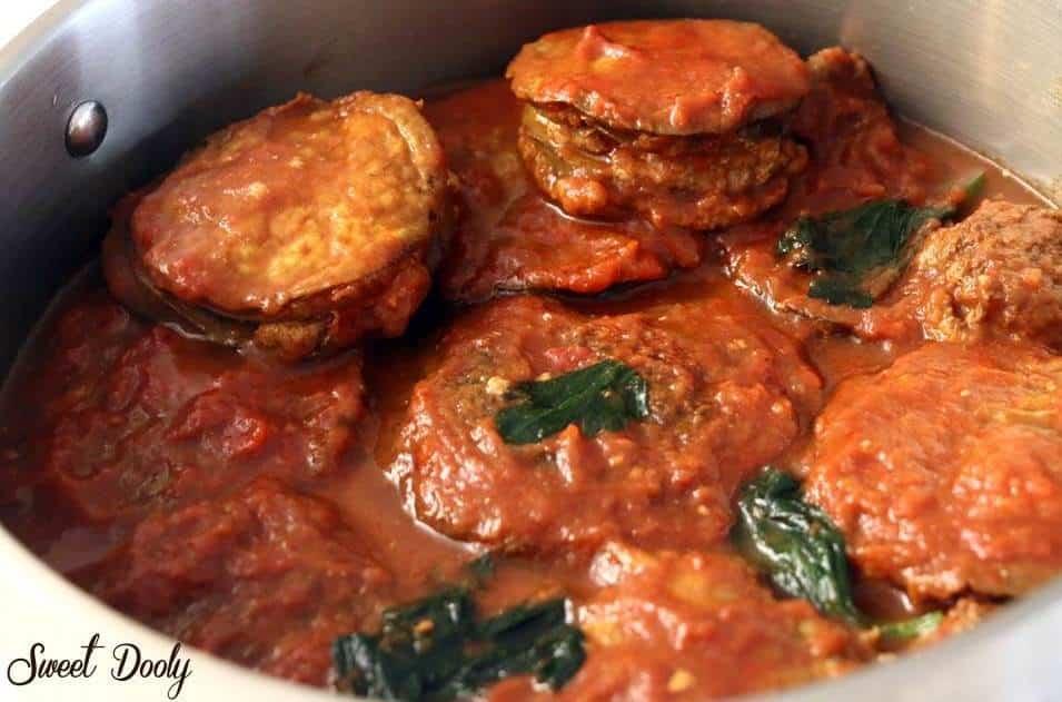 המוסקה של נונה מוסקה חצילים ובשר