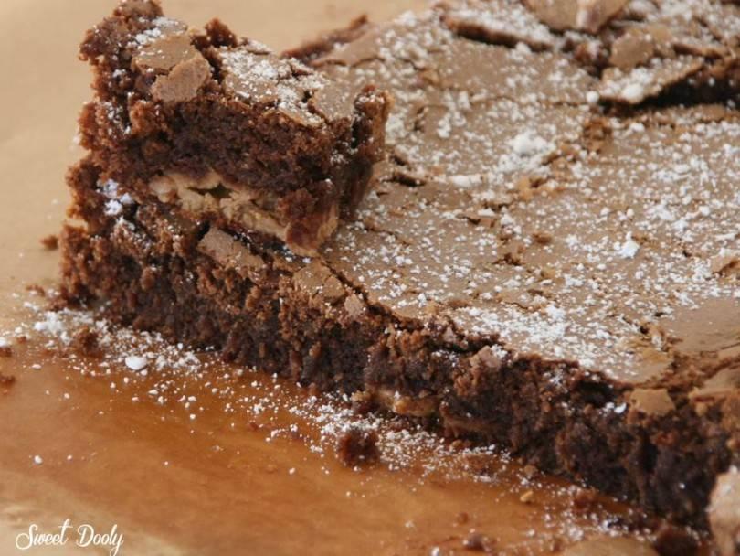 מתכון לבראוניז שוקולד עם חמאת בוטנים