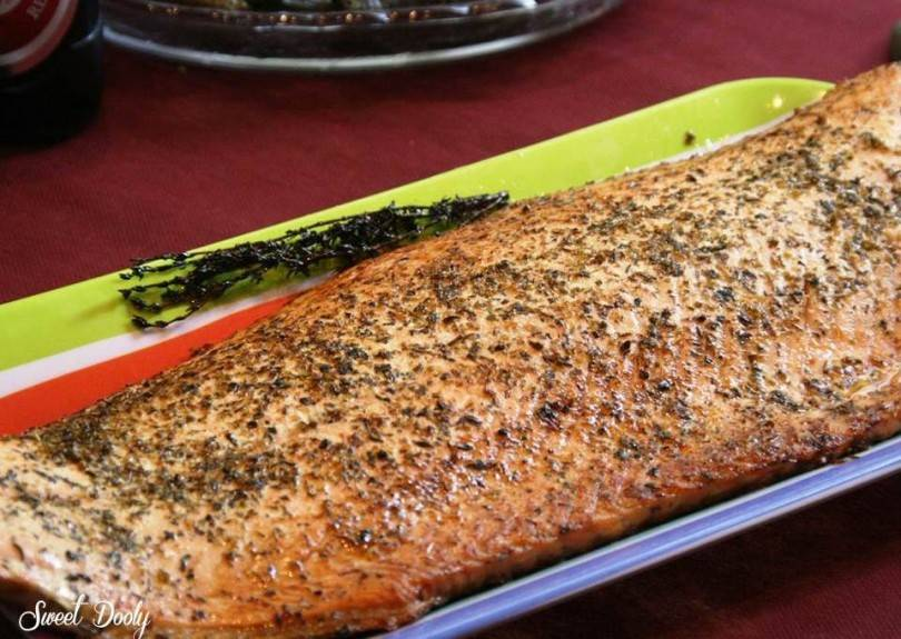 דג סלמון בתנור, חמישה מצרכים כולל הדג