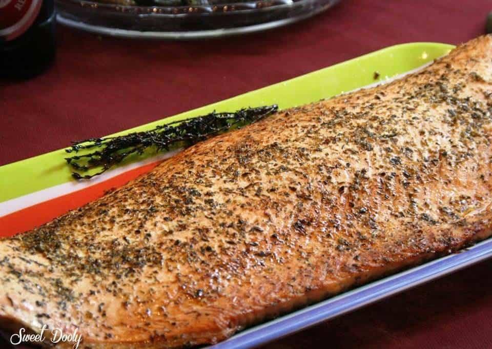 דג סלמון בתנור