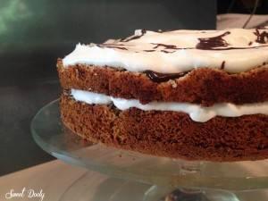 מתכון לעוגת פרג עם שוקולד וקצפת