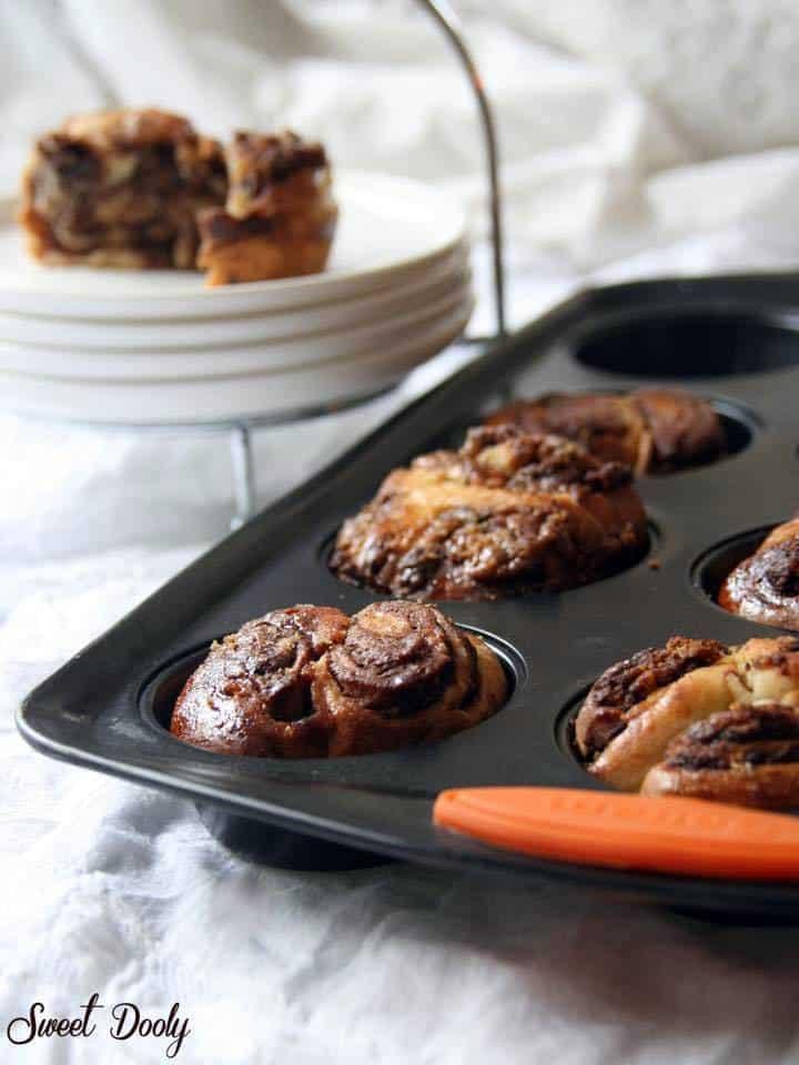 עוגת שמרים שוקולד וחלבה