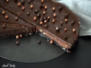 מתכון לעוגת שוקולד עם חמאת בוטנים עוגת שוקולד ללא אפייה
