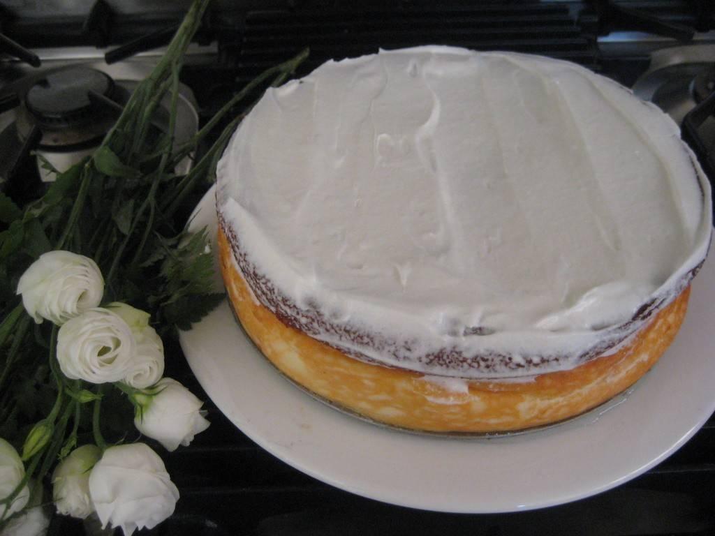 עוגת גבינה גרגרנית