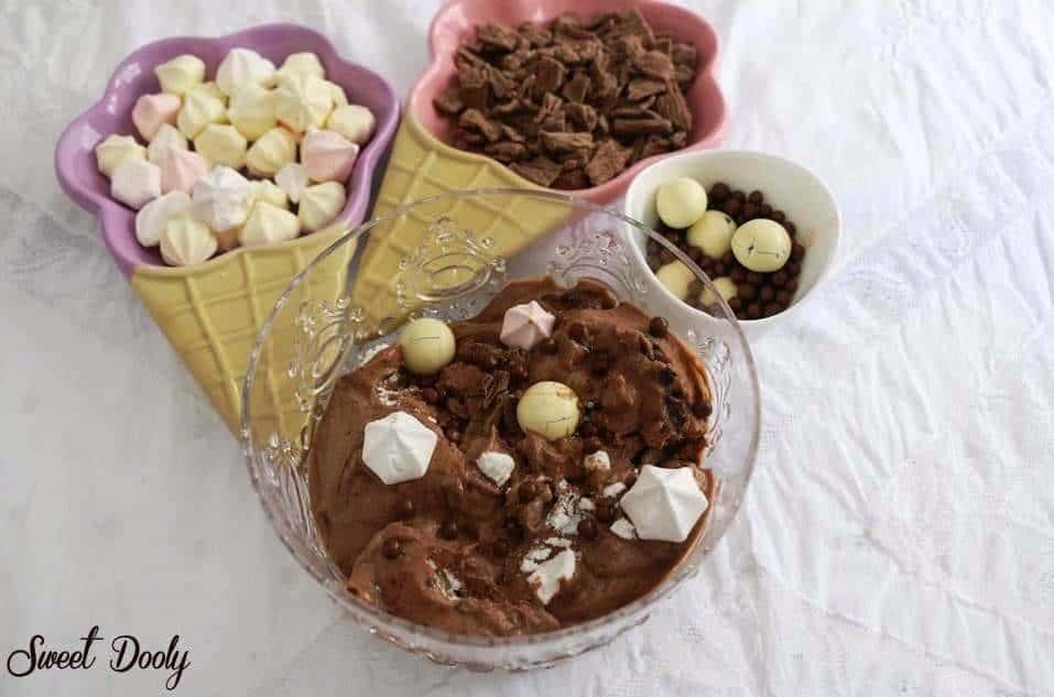 גלידת שוקולד ביתית בשלושה מצרכים