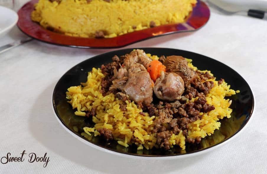 מנסף - אורז עם בשר