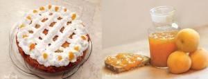עוגת טורט עם משמשים