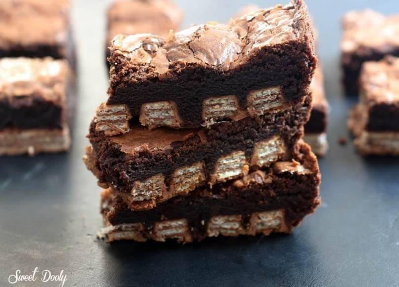 בראוניז שוקולד עם כיף כף