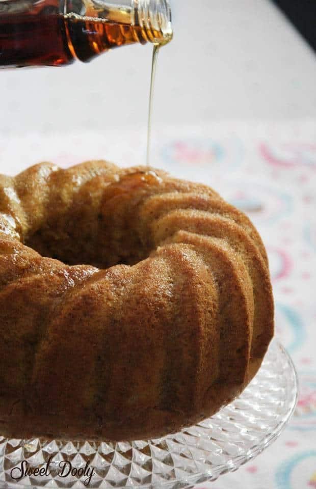 עוגת דלעת ברוטב מייפל