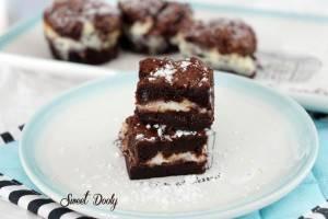 בראוניז שוקולד עם גבינה