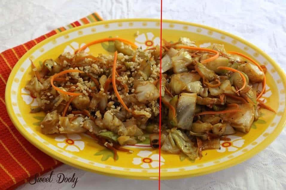 ירקות מוקפצים 1עם בורגול