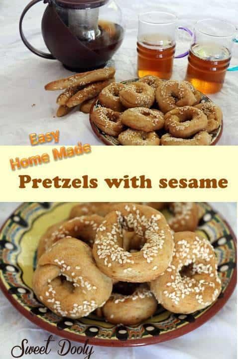 Pretzeks with sesame