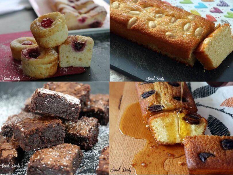 עוגות בחושות עם שקדים, מייפל, גבינה ושוקולד