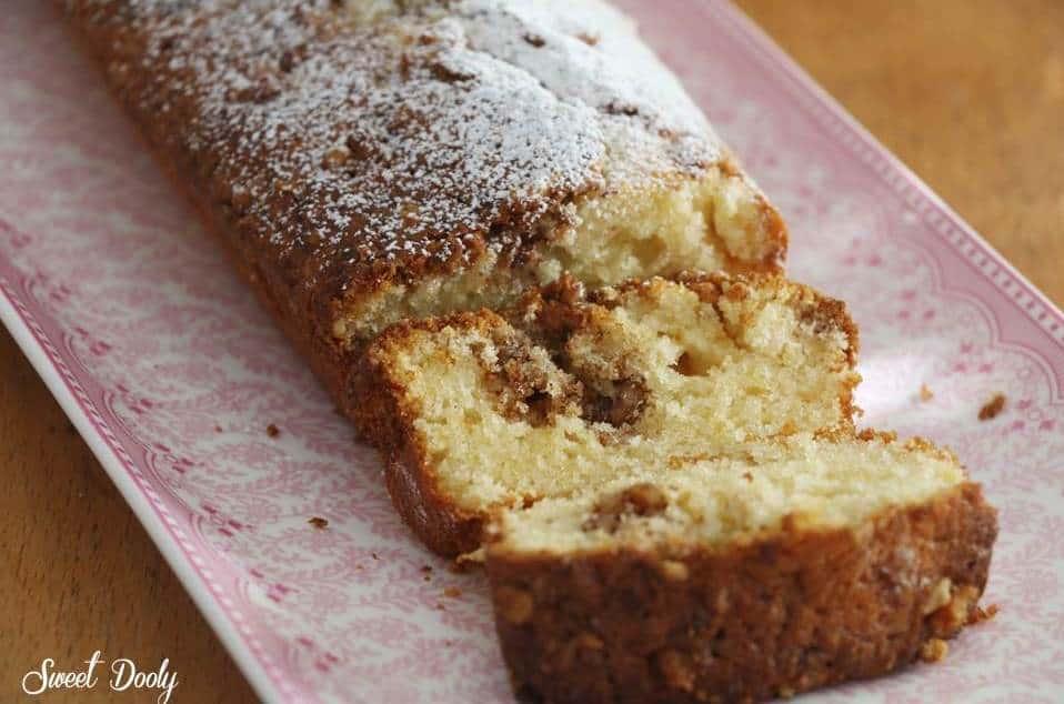 עוגת אגוזים וקינמון עוגה בחושה מהירה