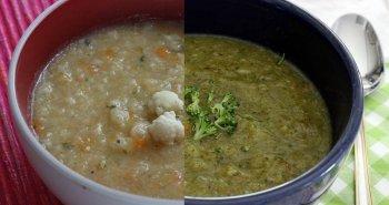 מרק ברוקולי כרובית וגזר