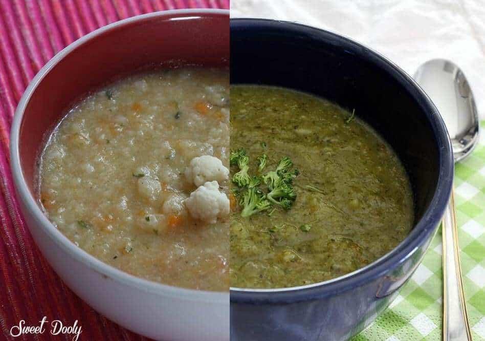מרקים עם כרובית וברוקולי עם גזר