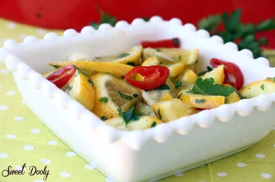 סלט לימון טעים שמכינים בשבע דקות
