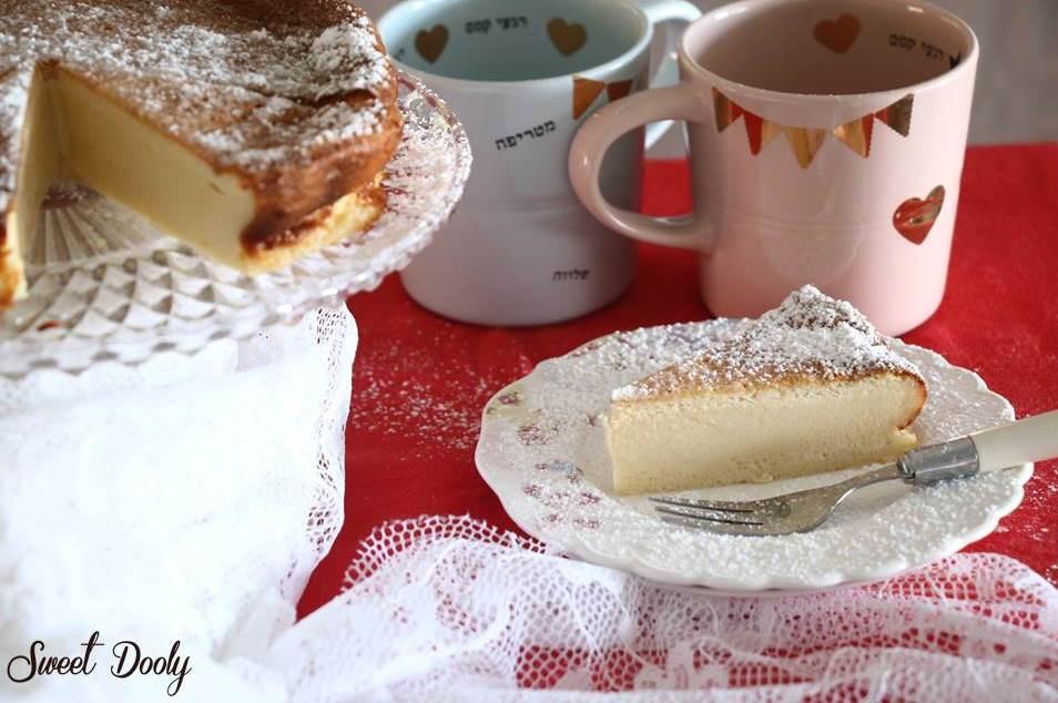 עוגת גבינה משלושה מרכיבים בלבד