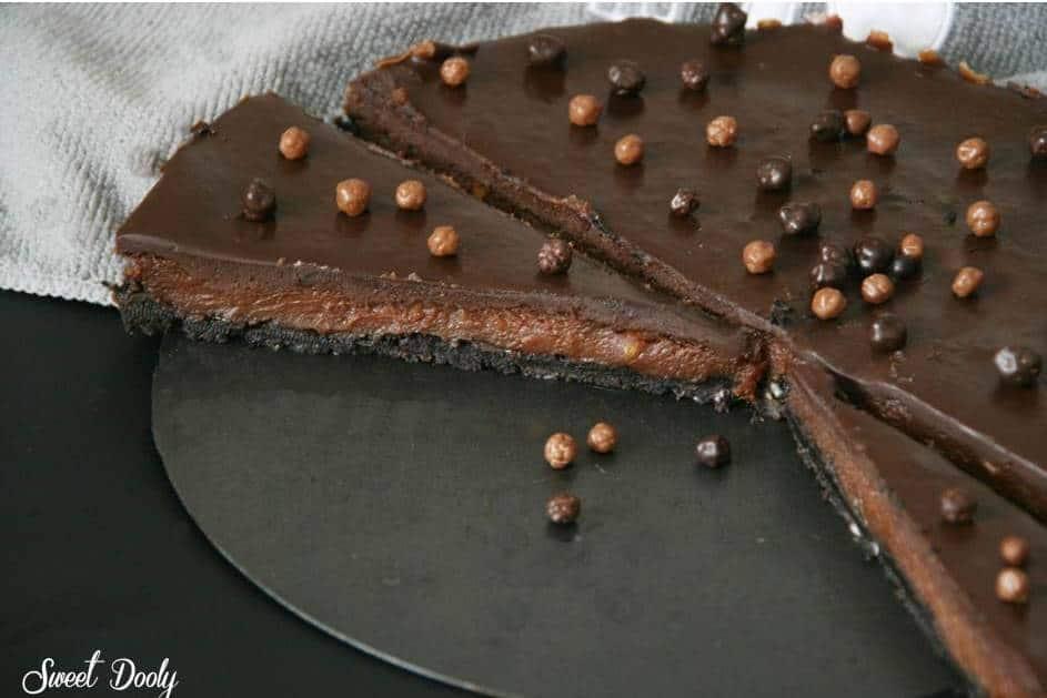 עוגת שוקולד עם חמאת בוטנים