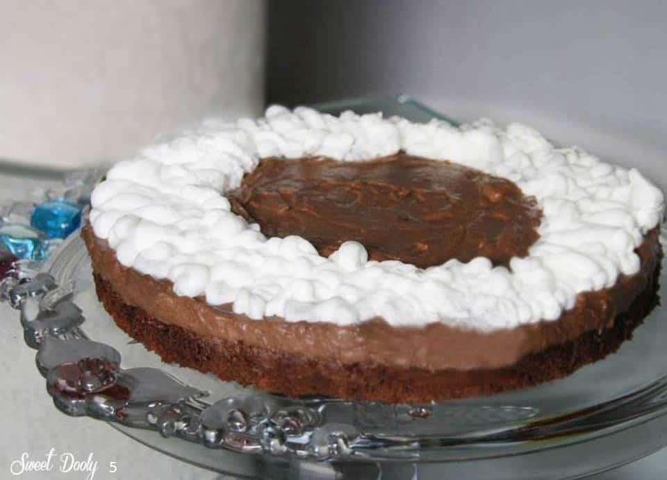 עוגת מוס שוקולד בשלוש שכבות