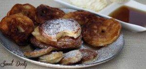 טבעות תפוחים מטוגנות מתכון טעים לחנוכה