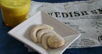 תמונות של עוגיות שבדיות משני מצרכים וסוכר