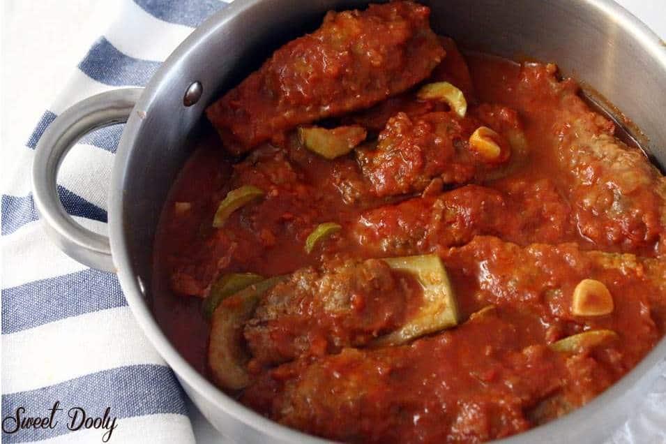 מדיאס - מתכון לסירות קישואים ממולאות בשר