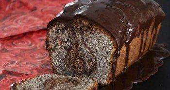 עוגת פרג בחושה קלה להכנה עם שוקולד