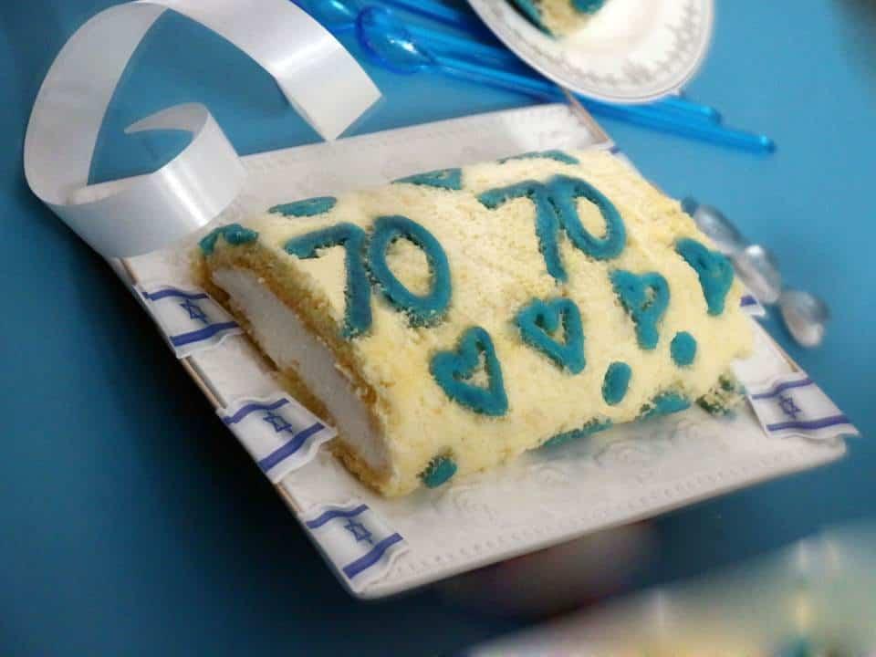 מתכון לעוגת רולדה בצבעי כחול לבן ליום העצמאות