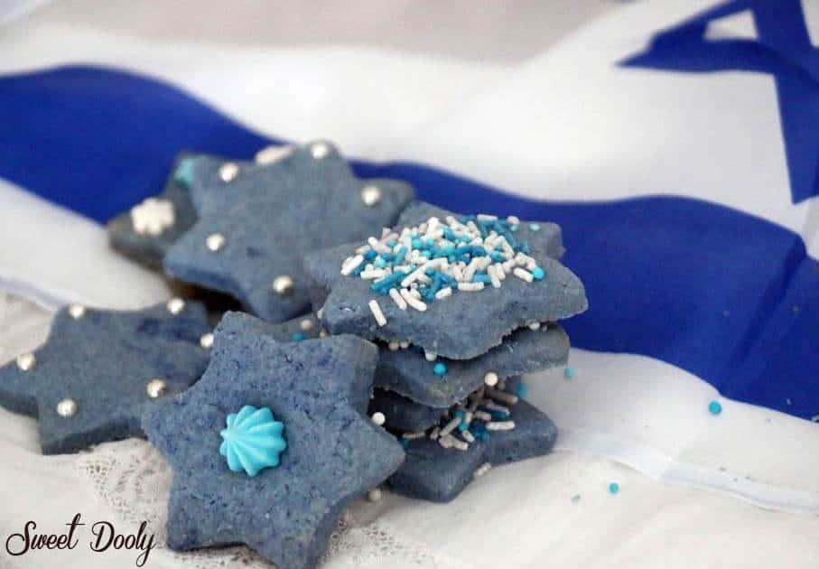 מתכון לעוגיות חמאה בצבעי כחול לבן ליום העצמאות