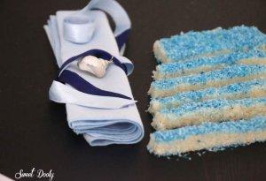 ממתק קוקוס בצבעי תכלת לבן ליום העצמאות