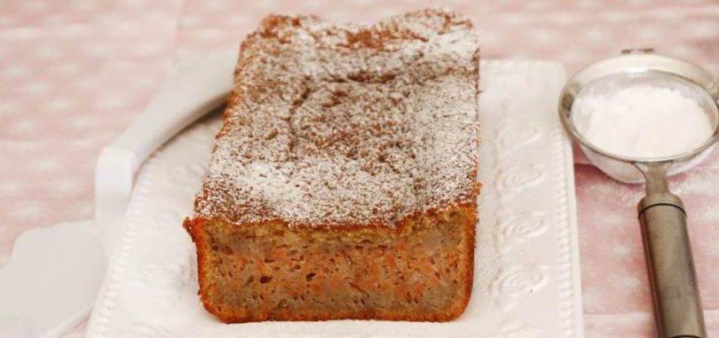 עוגת גזר בחושה מקמח כוסמין מלא