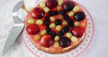 עוגת טורט עם ג'לי ופירות פרווה עוגה לשבת