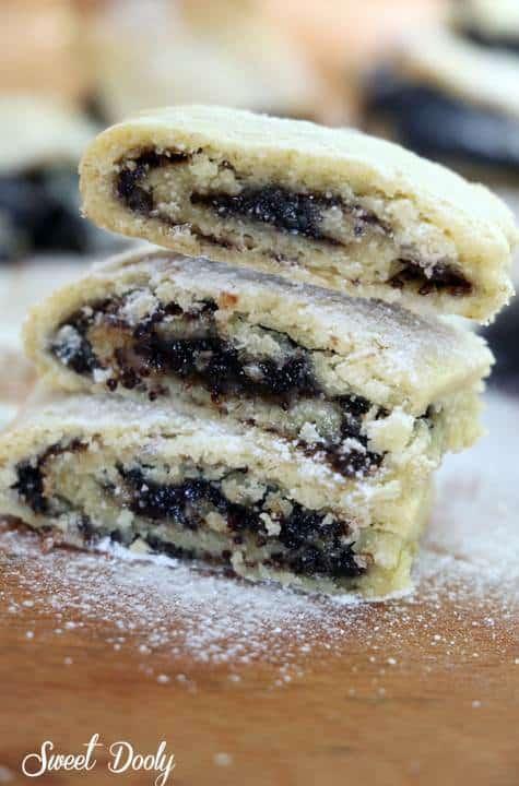עוגיות מגולגלות במילוי פרג עוגיות קלות הכנה