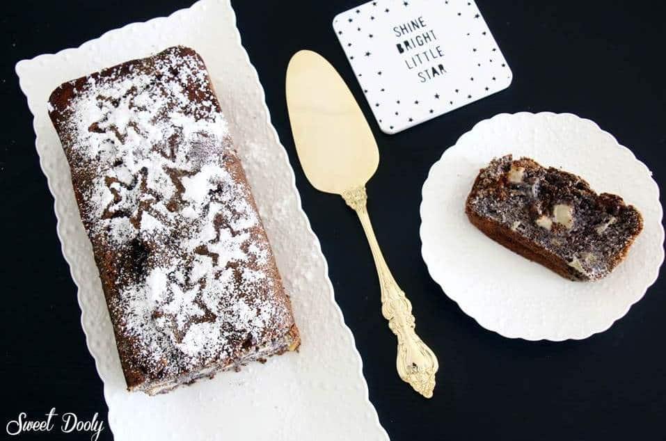 מתכון לעוגת פרג ותפוחים עוגה בחושה עסיסית ורכה