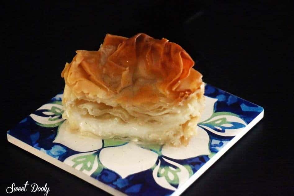 פילו עם מלבי, עוגה יוונית חלומית עם סירופ סוכר