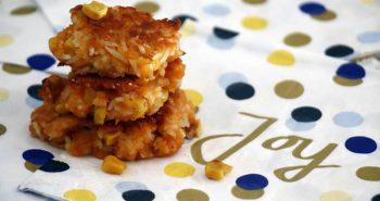 לביבות אורז עם תירס אפויות