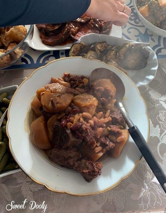 מתכון מעולה לחמין עם בשר ותוספות