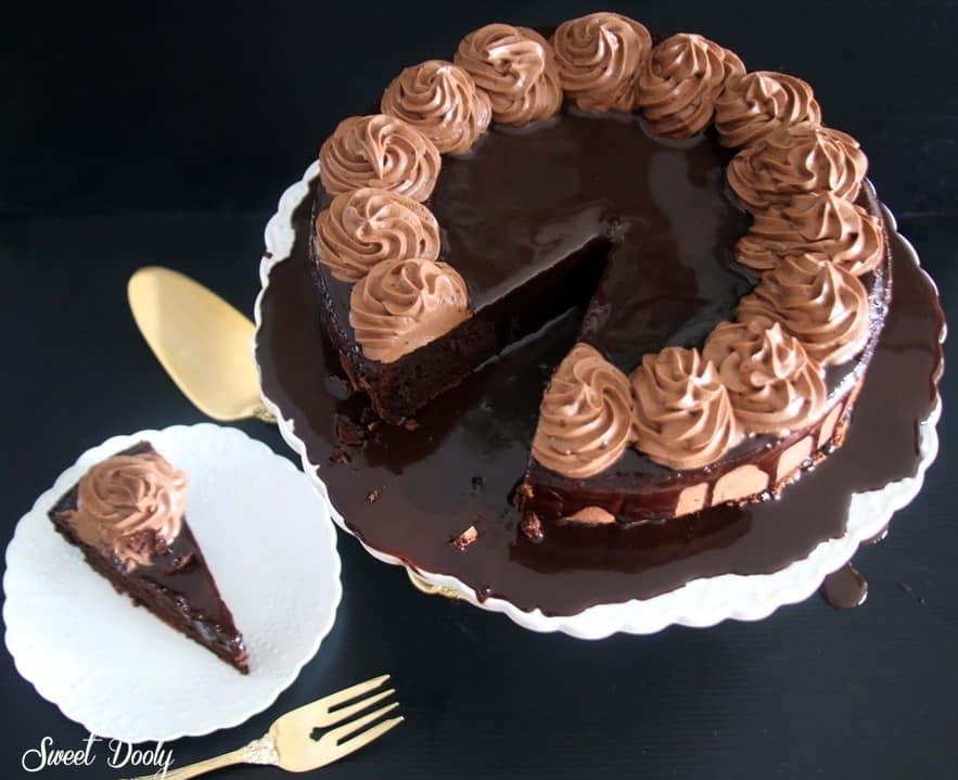 פאדג' שוקולד ללא קמח מ-4 מצרכים בלבד