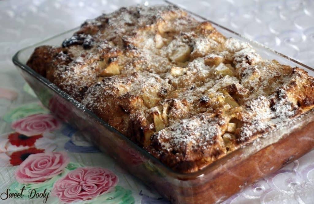 מתכון ללחם פודינג עם תפוחים