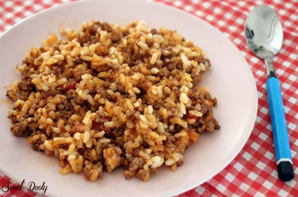 אורז בולונז מתכון לאורז עם בשר טחון