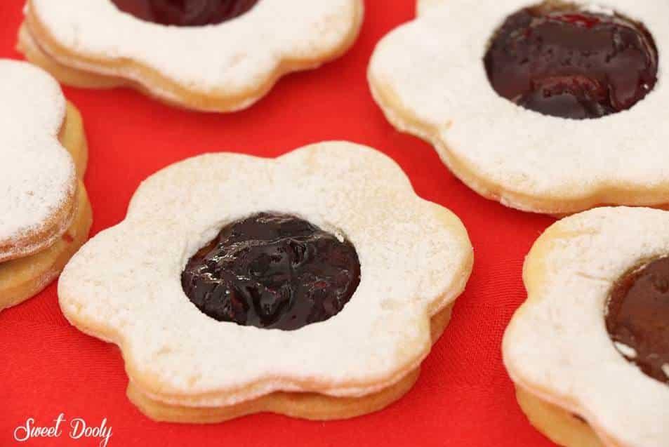 עוגיות פרח ריבה משגעות
