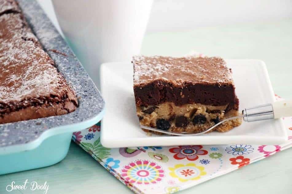 עוגת בראוניז ושוקולד צ'יפס