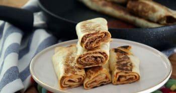 טורטיה עם בשר טחון