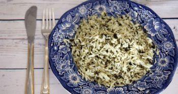 אורז מבושל עם תרד