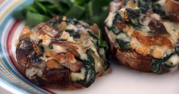 פטריות ממולאות גבינה וירקות